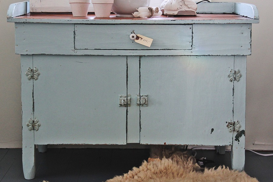 For Sale: Robin's Egg Blue Cupboard
