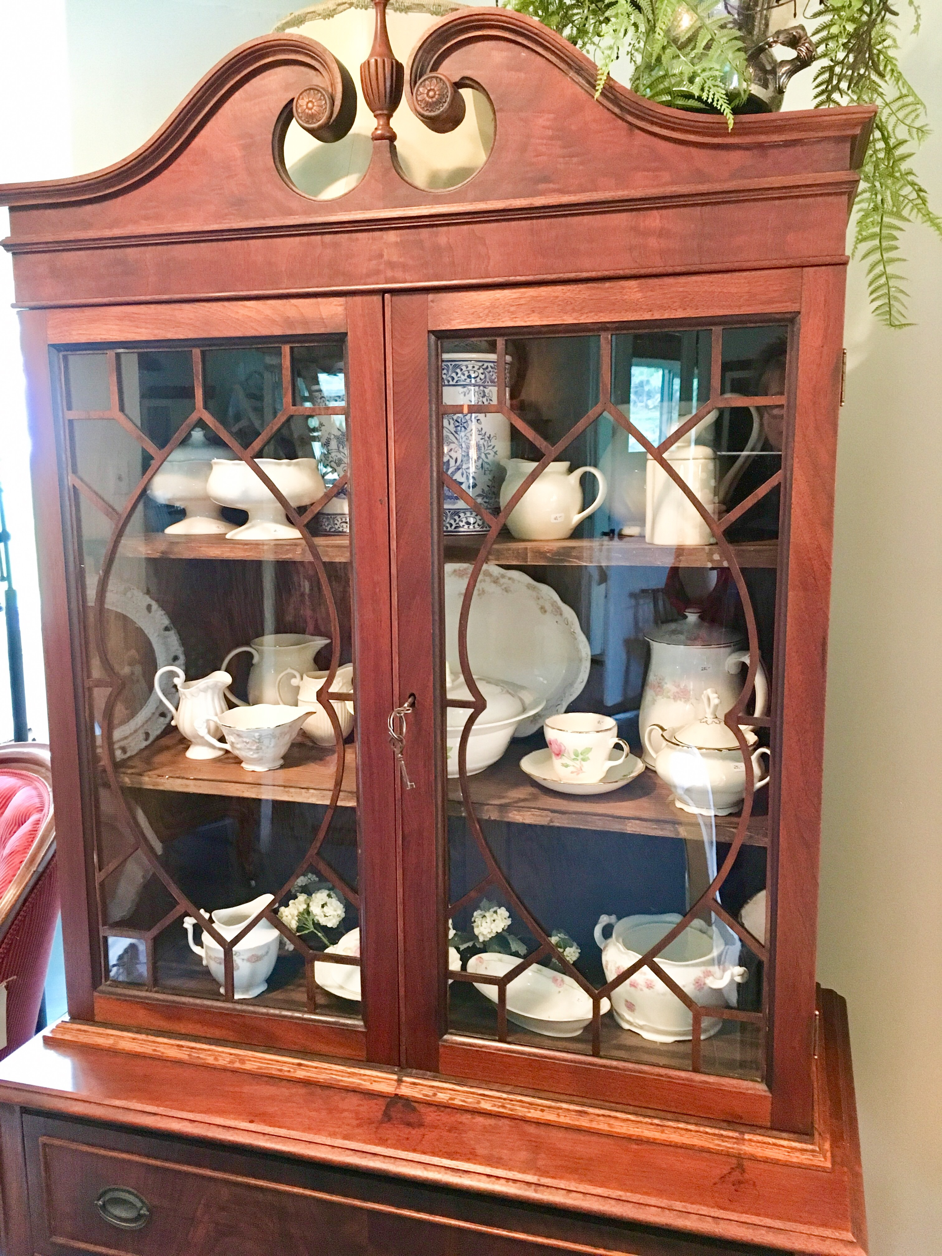 for sale federal style china cabinet land haus antiques